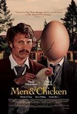 Men & Chicken Large Poster