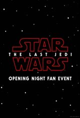 Opening Night Fan Event Star Wars: The Last Jedi The IMAX 2D Experience Movie Poster