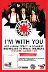 Red Hot Chili Peppers Live: I'm With You Movie Poster