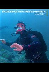 Shark Beach with Chris Hemsworth Large Poster