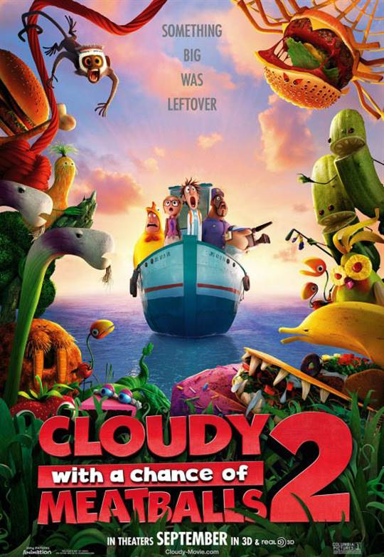 Cloudy with a Chance of Meatballs 2 Large Poster