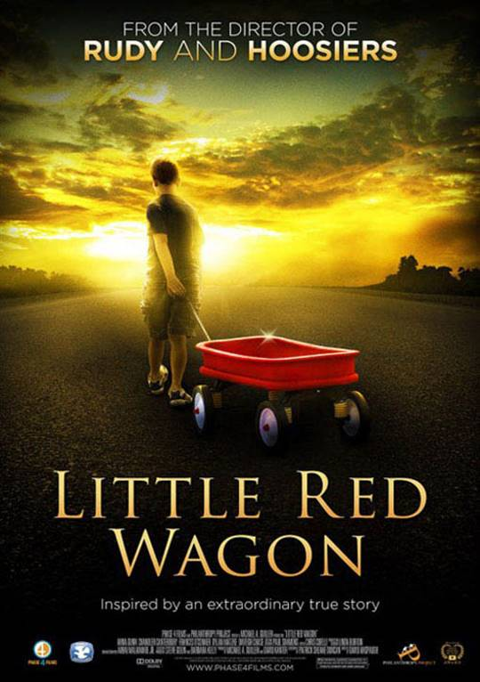Little Red Wagon Large Poster