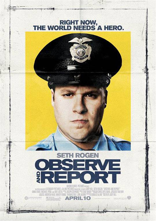 Observe and Report Large Poster