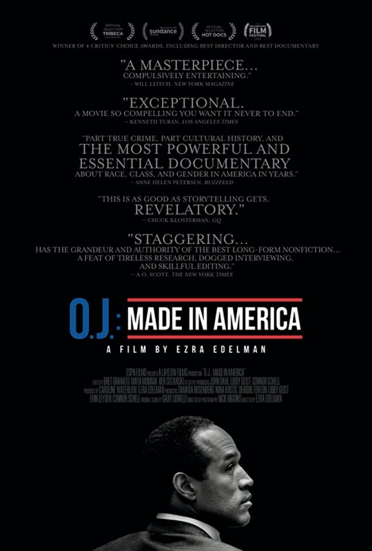 O.J.: Made in America Large Poster