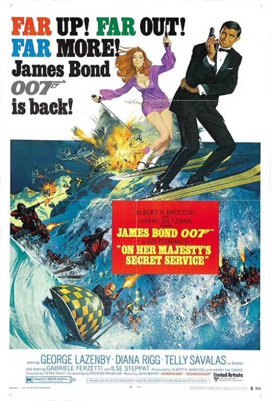 On Her Majesty's Secret Service Large Poster