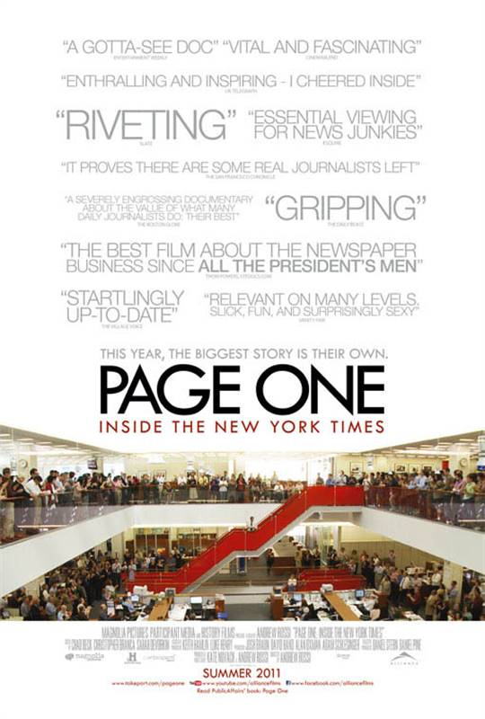 Page One: Inside the New York Times  Large Poster