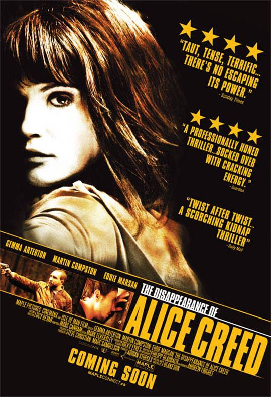 The Disappearance of Alice Creed Large Poster