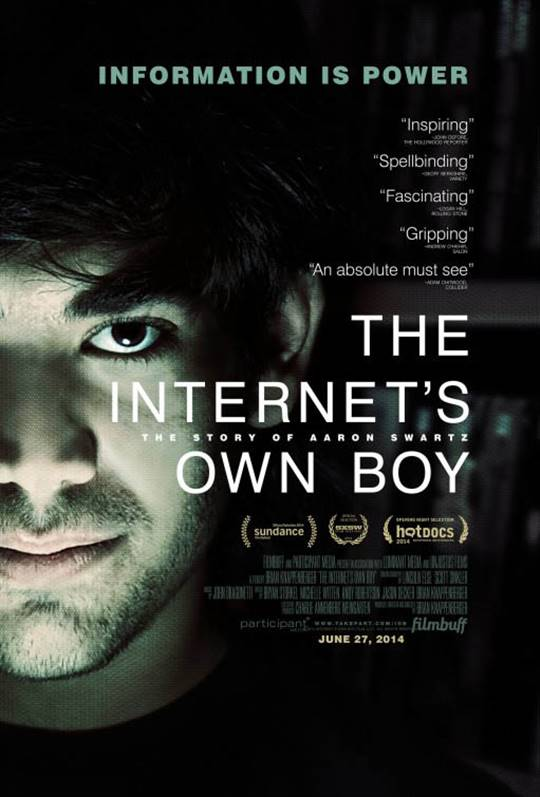 The Internet's Own Boy: The Story of Aaron Swartz Large Poster
