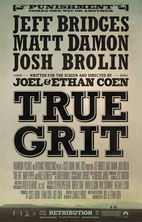 True Grit Large Poster