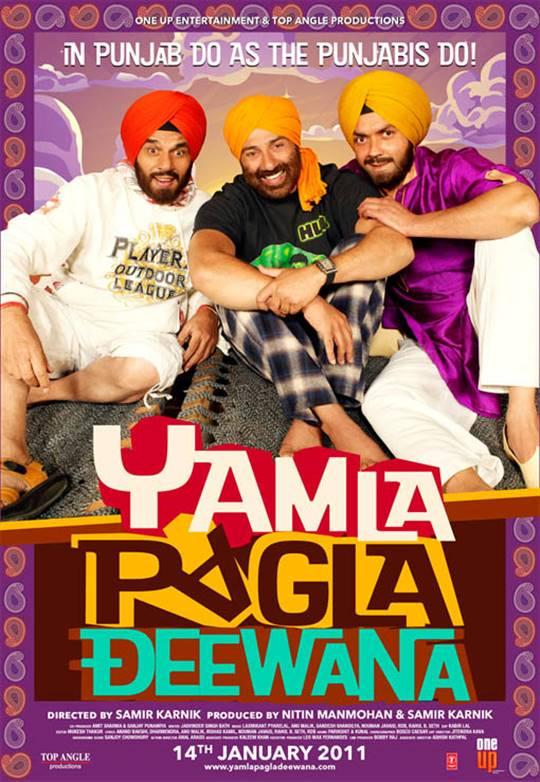 Yamla Pagla Deewana Large Poster