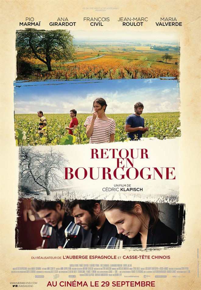 Back to Burgundy Large Poster