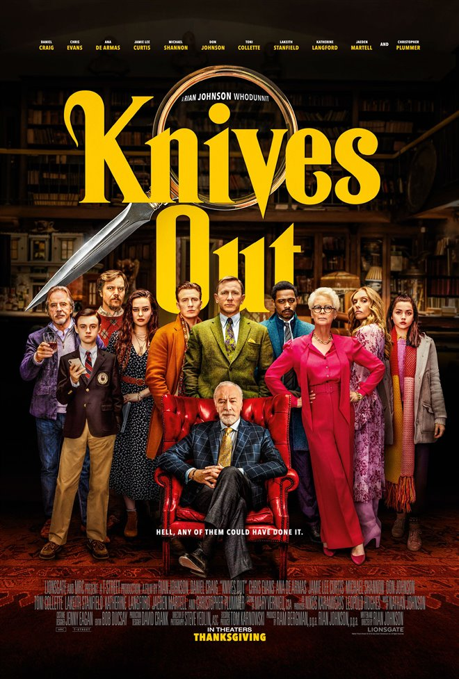 Knives Out Large Poster