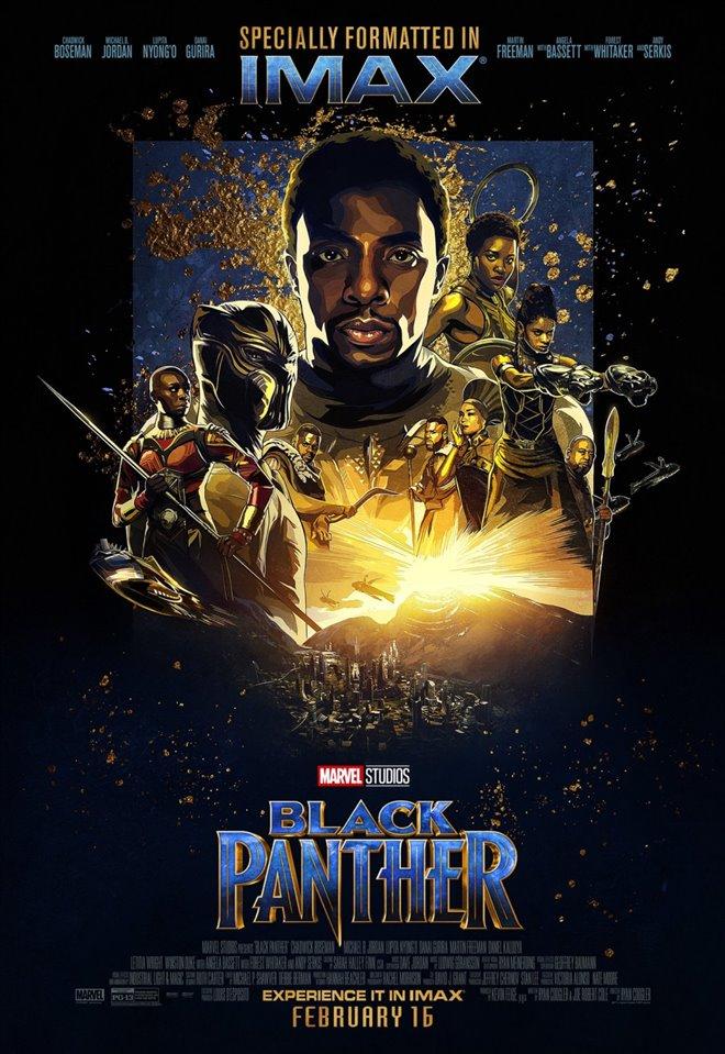 Marvel Studios 10th: Black Panther (IMAX) Large Poster
