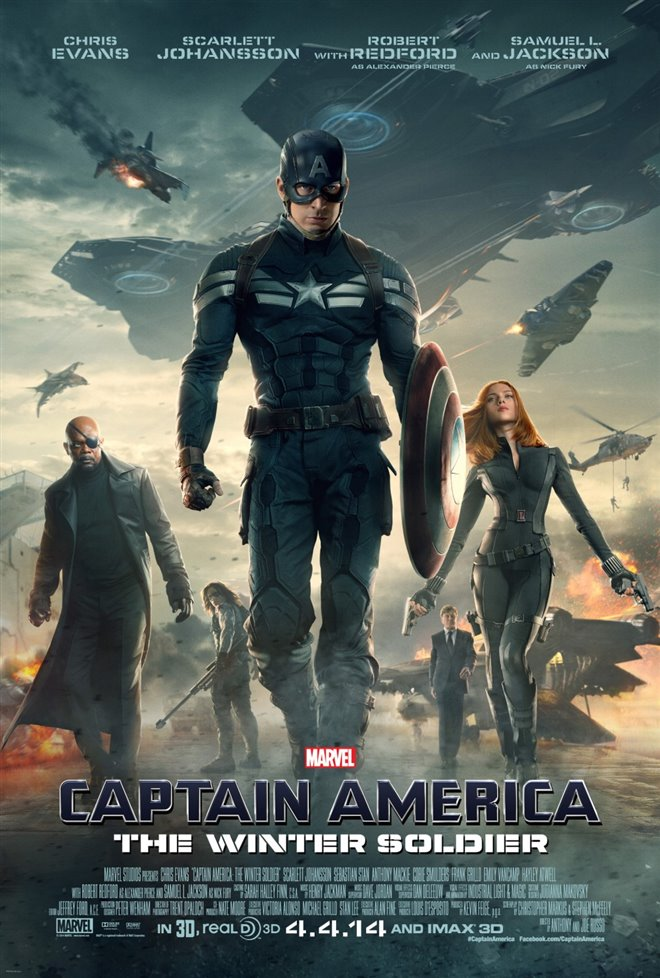 Marvel Studios 10th: Captain America: The Winter Soldier (IMAX 3D) Large Poster