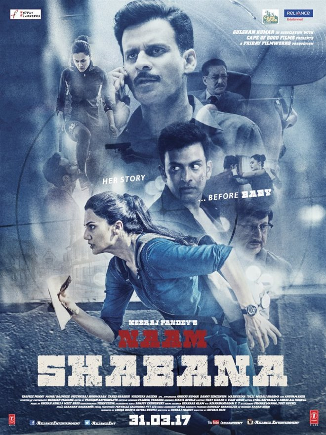 Naam Shabana Large Poster