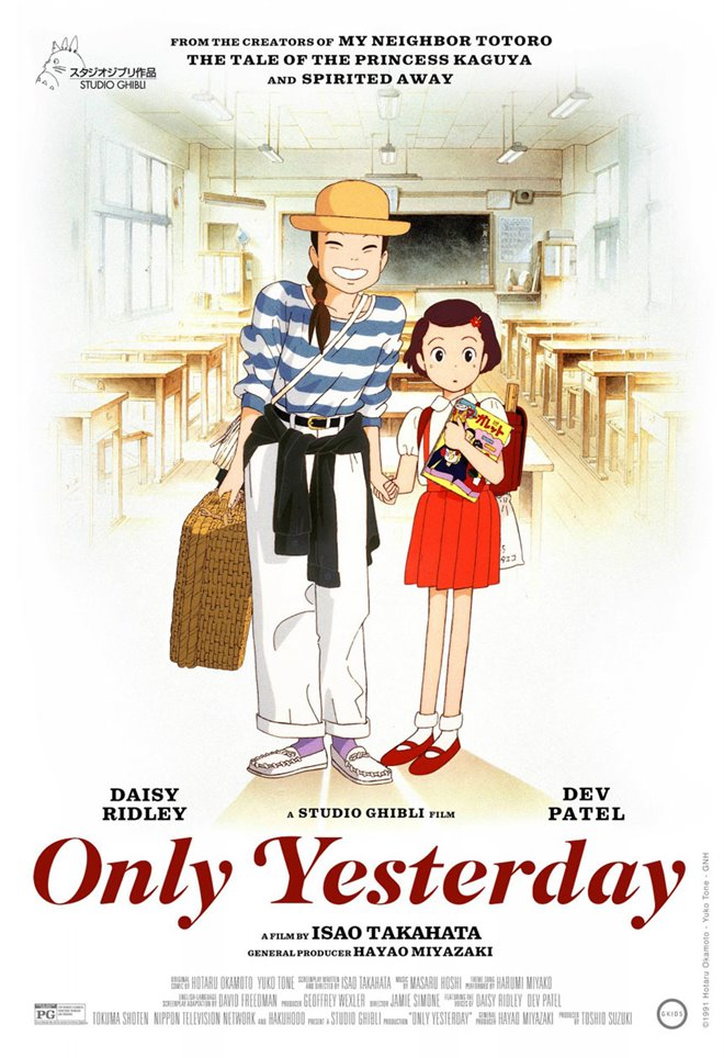 Only Yesterday (Subtitled) Large Poster
