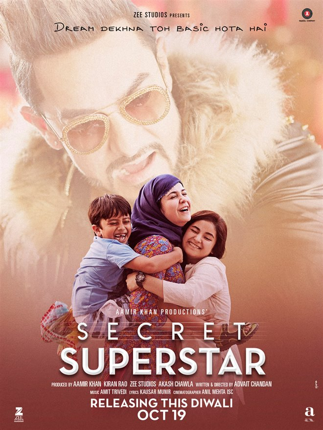 Secret Superstar (Hindi w/e.s.t.) Large Poster