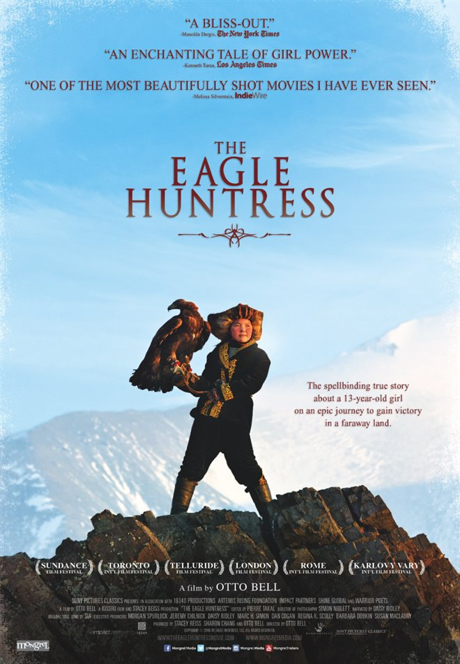 The Eagle Huntress Large Poster