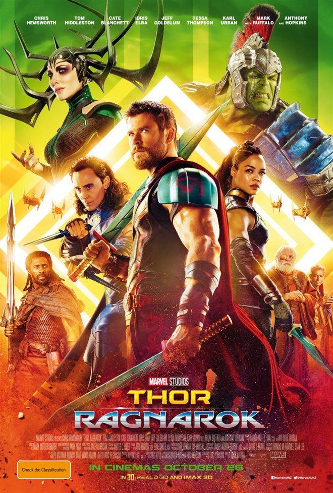 Výsledek obrázku pro thor ragnarok movie poster