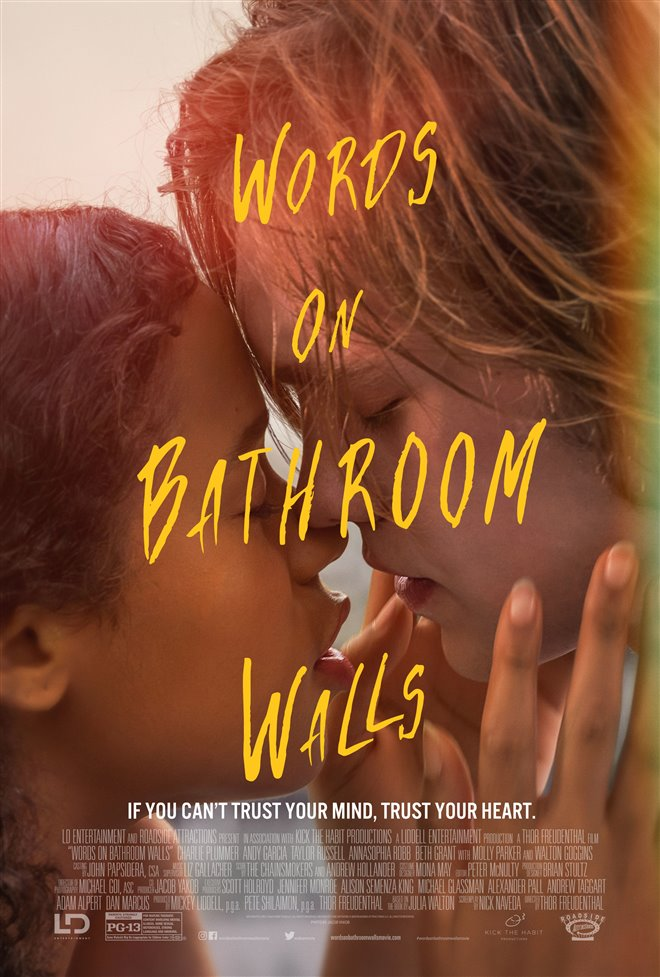 Words on Bathroom Walls Large Poster