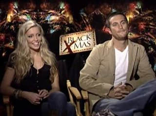 katie cassidy oliver hudson black christmas interview video thumbnail - Black Christmas Trailer